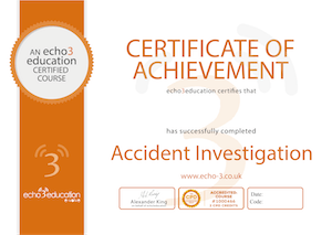 Accident Investigation Certificate