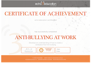 Anti-bullying Certificate