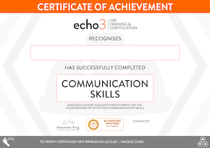 COMMUNICATION SKILLS CERTIFICATE