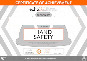 Hand Safety Certificate