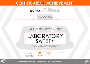 LAB SAFETY CERTIFICATE