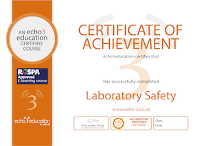 Lab safety eLearning