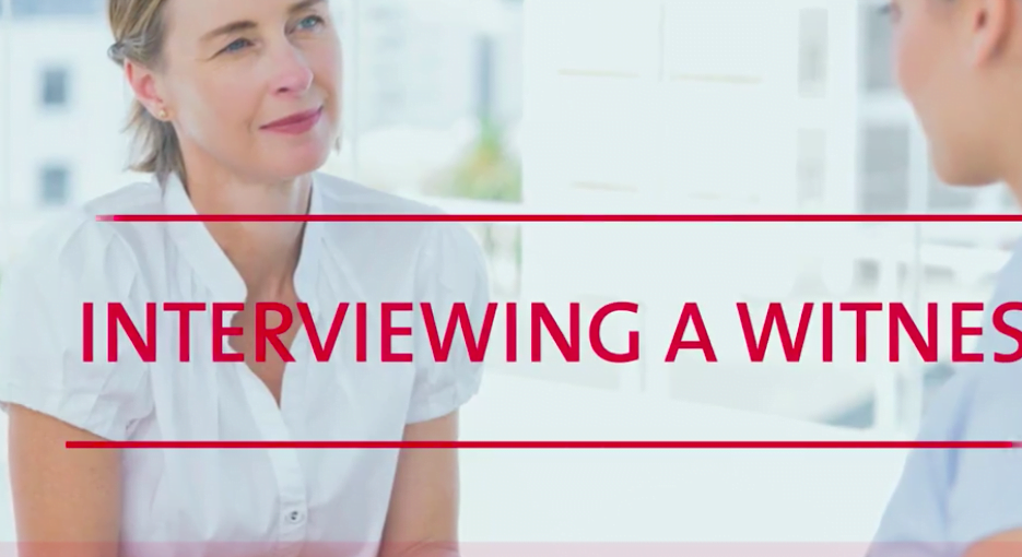 Interviewing techniques following and accident