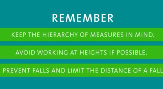 ladder safety remember