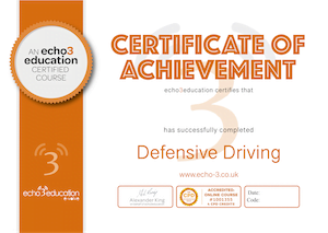 Defensive Driving Certificate