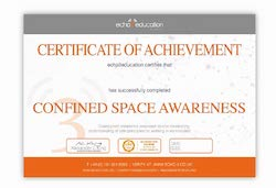 Confined Space Entry Certificate