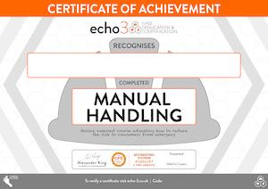 Manual Handling Certificate