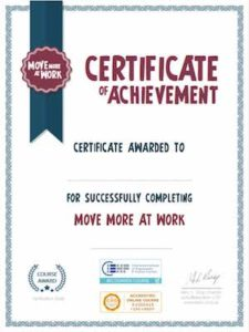 Move More Certificate