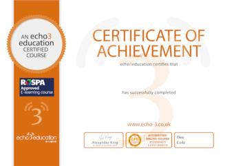 echo3 certificate