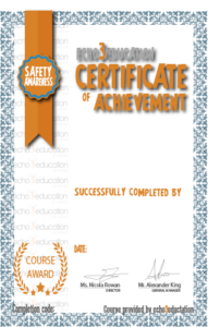 online training certificate
