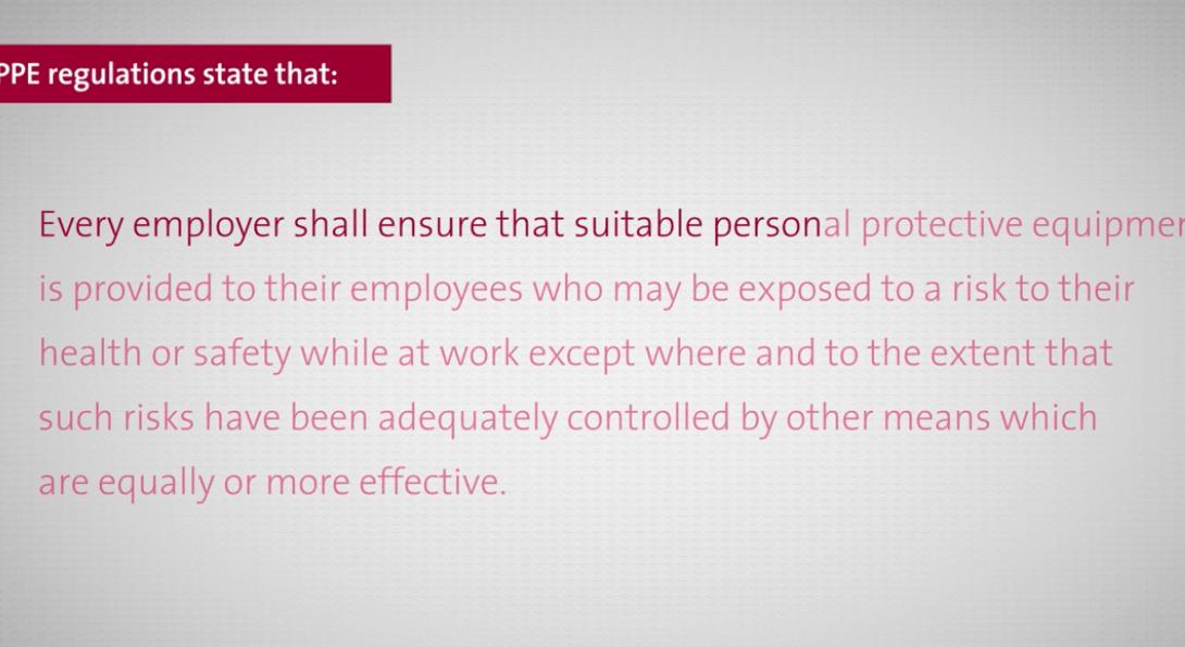 PPE regulations