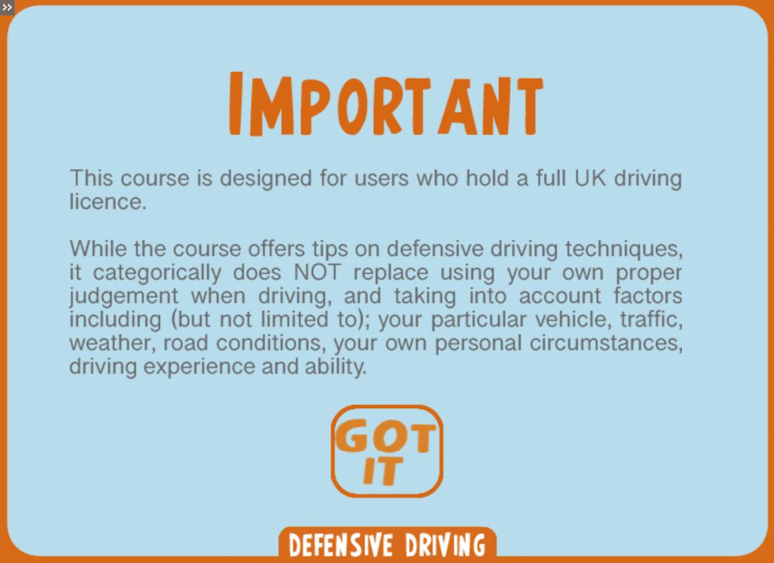 Safe Driving Training