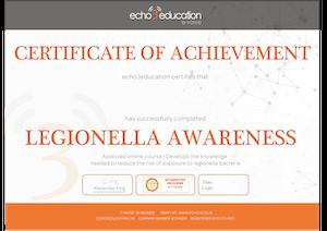 Online Legionella Awareness Training