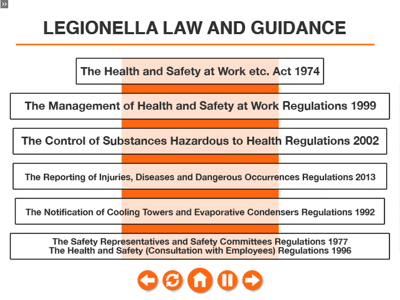 Legionella Training Online