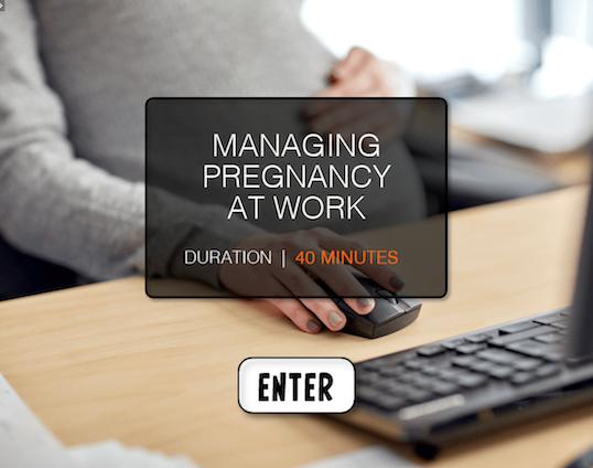Managing pregnancy at work