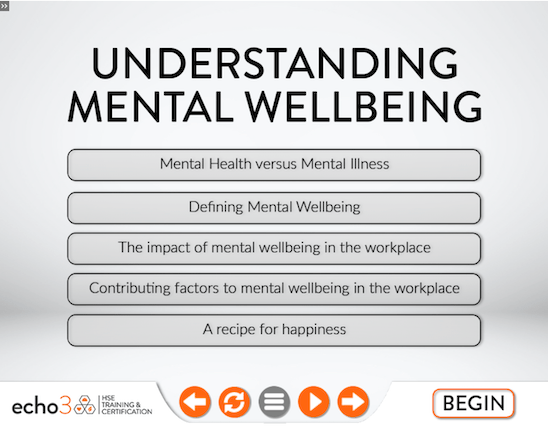 Mental Wellbeing course online