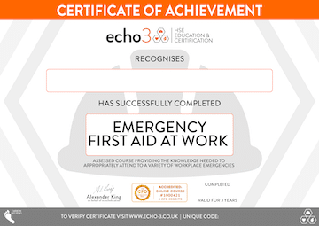 EFAW CERTIFICATE SMALL
