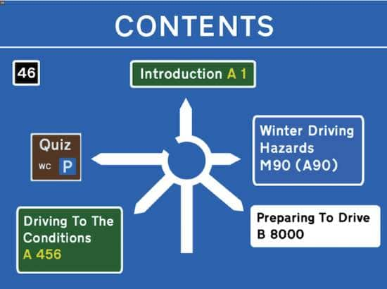 Winter driving training