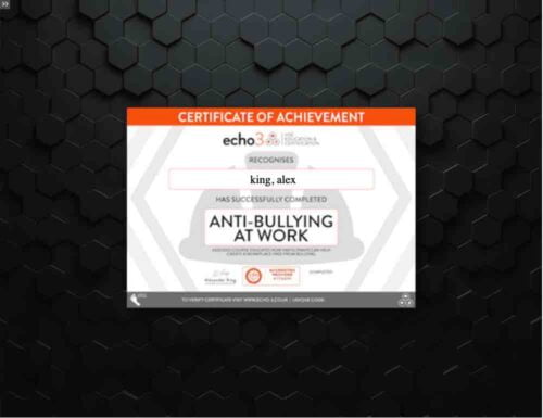 bullying elearning training